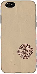Snoogg Classified stuff Hard Back Case Cover Shield For Apple Iphone 6 S / 6s