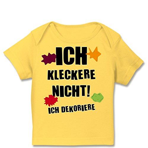 spruche-baby-ich-kleckere-nicht-68-74-9-monate-gelb-e110b-kurzarm-baby-shirt-fur-jungen-und-madchen-