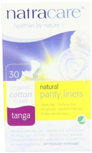 Natracare Natural Panty Liners, Tanga, 30 Count Boxes (480 Liners) (Pack of 16)