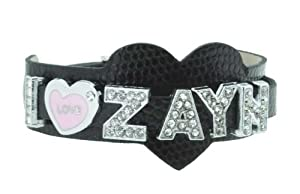Black One Direction I Love Zayn Bracelet, 1D Bracelet, 1D Wristband, 1D Wrist Band, One Direction Bracelet from Hinky Imports
