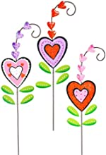 Sign of Love Heart Flowers Garden Stakes