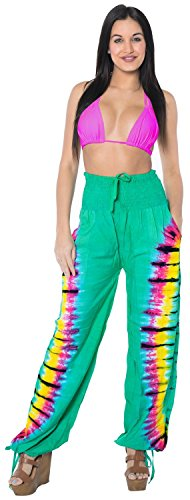 baggy-pockets-rayon-tie-dye-green-women-lounge-sleepwear-swimwear-pajama-pant