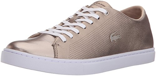 Lacoste Women's Showcourt Lace 116 2 Spw Fashion Sneaker, Gold, 7.5 M US