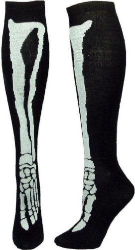 Skeleton Bone Knee High Gothic Vamp Zombie Punk