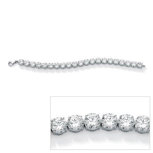 PalmBeach Jewelry Platinum-Plated Round DiamonUltra™