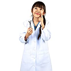 NATURAL UNIFORMS Childrens Lab Coat--Halloween Costumes--Soft Fabric XXL White