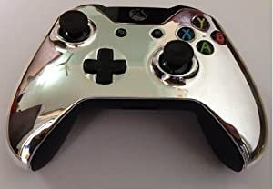Xbox One SILVER Chrome Controller housing Shell - Original Top shell from Microsoft Software
