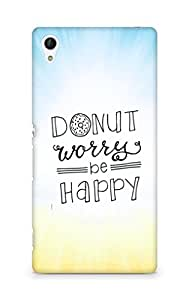 AMEZ donut dont worry be happy Back Cover For Sony Xperia Z4