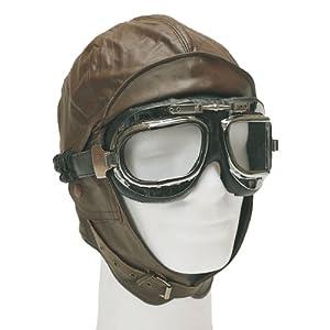 Flieger Bonnet aviateur en cuir Marron Marron s