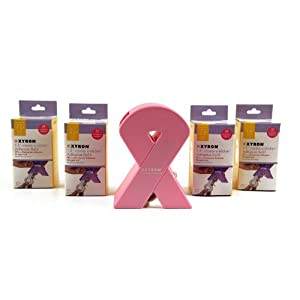 Xyron 1507-35-00 Pink Ribbon 1.5-inch Create-a-Sticker Supporting Breast Cancer Research with 100-Feet of Adhesive
