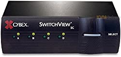 Avocent Cybex 4 Port Secure SwitchView SC KVM (Keyboard Video Mouse) Computer Switch