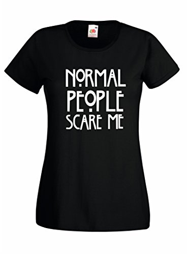 Settantallora - T-shirt Maglietta donna J786 Normal People Scary me Taglia S