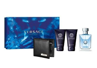 Versace Versace Pour Homme Men Giftset (Eau De Toilette, Shampoo, Shower Gel, Wallet)
