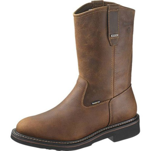 6b5547004a59 The Features Wolverine W10085 Brek Wellington DK Brown Mens Waterproof Work  Boots Size 13 0M -