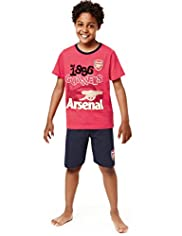 Pure Cotton Arsenal Football Club Short Pyjamas