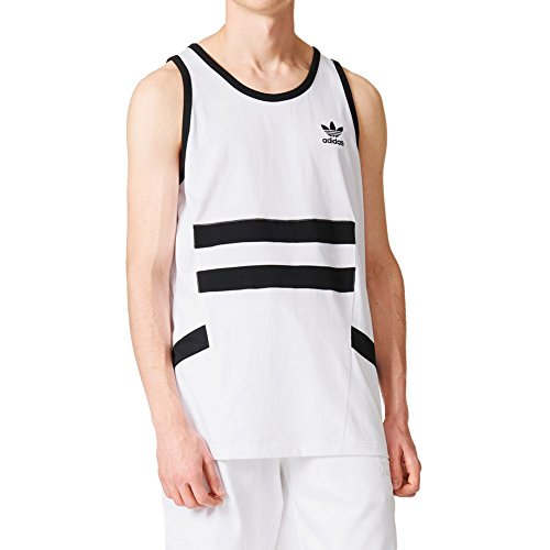 adidas Uomo Tank Tops Muscle bianco M