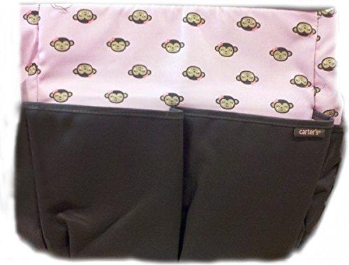 Carter's Diaper Bag Pink Monkeys