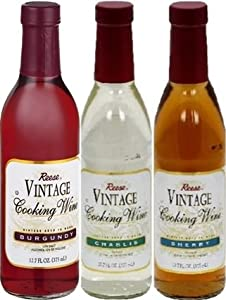 Reese Vintage Cooking Wine Sampler 12.7oz Bottle (Variety Pack of 3)