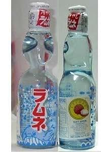 Mizuki - Japanese Ramune Soda Drink Sampler Value Pack (6x Original, 3x Lychee) - 9 Bottles - 9 X 6.7 Oz