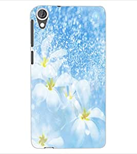 ColourCraft Lovely Flowers Design Back Case Cover for HTC DESIRE 820