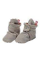 Zutano Baby-Girls Infant Candy Stripe Bootie, Chocolate, 6 Months
