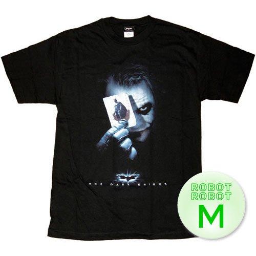 バットマン ダークナイト ジョーカー カードTee/Batman Dark Knight Joker Card T-Shirt 映画Tシャツ M【並行輸入】