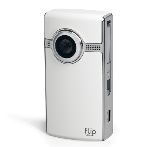 Flip UltraHD Video Camera - White, 8 GB, 2 Hours 