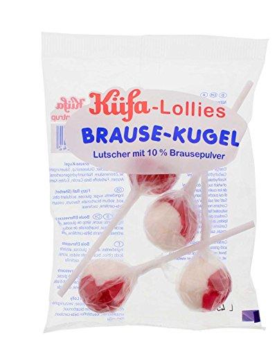 Küfa – Brause-Kugel-Lolly (4 Stück im Beutel)