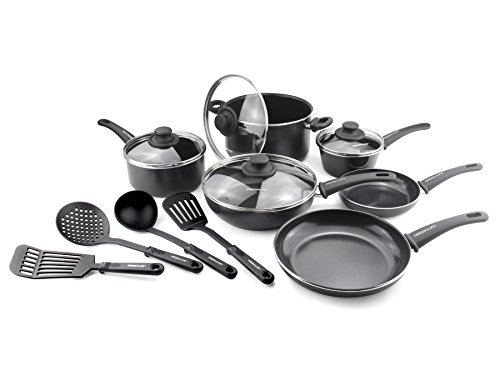 GreenLife Soft Grip Diamond Reinforced 14pc Ceramic Non-Stick Cookware Set