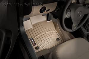WeatherTech First All Weather Floor Mat (Tan) for 2011-2014 Cadillac SRX Tan Front FloorLiner