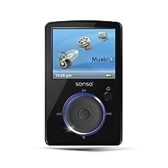 SanDisk Sansa Fuze Tragbarer MP3-/Video-Player 4 GB mit Radio schwarz