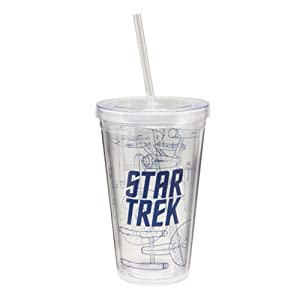 Vandor LLC Vandor Star Trek 18-Ounce Acrylic Travel Cup with Lid and Straw, Multicolored at Sears.com
