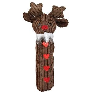 Hugglehounds Long Squeak Reindeer Dog Toy