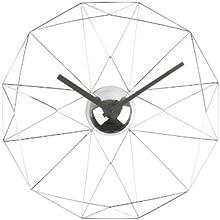 Karlsson KA5362CH Horloge Diamant Web Métal Chrome 38 cm