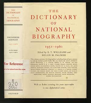 Dictionary Of National Biography: 7Th Supplement: 1951-1960 (Dictionary Of National Biography Supplement)