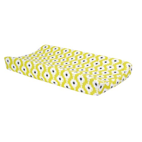 Trend Lab Waverly Rise And Shine Changing Pad Cover, Black/White front-241697