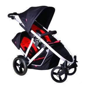 phil&teds Doubles Kit for Verve Stroller, Black/Red