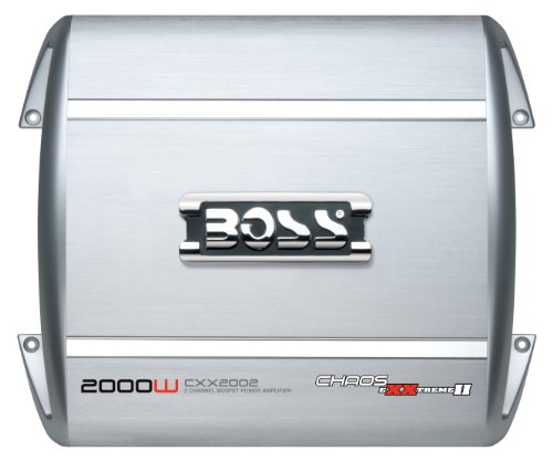 Boss Audio Cxx2002 Chaos Exxtreme Ii 2000-Watts Full Range Class A/B 2 Channel 2-8 Ohm Stable Amplifier With Remote Subwoofer Level Control