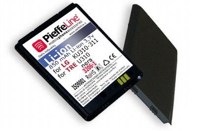 Batteria per LG KU310 KU311 TRE U310 NERA da 850 MAH A LITIO