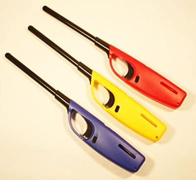 3 x Large Lighters Refillable Safety Gas Candle BBQ Fire Lighter 27cm