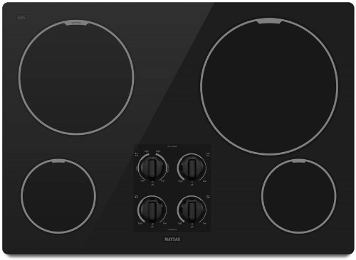 Maytag : MEC7430WB 30 Smoothtop Electric Cooktop with 4 Radiant Elements