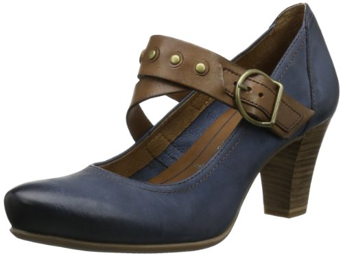 Tamaris Womens TAMARIS Closed multi-coloured Mehrfarbig (NAVY/NUT 809) Size: 6 (39 EU)