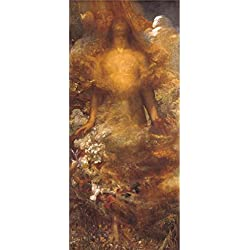 Oil Painting 'George Frederic Watts - She Shall Be Called Woman,1875-1892', 16 x 36 inch / 41 x 92 cm , on High Definition HD canvas prints, Bath Room, Home Theater And Living Room Decoration, sale