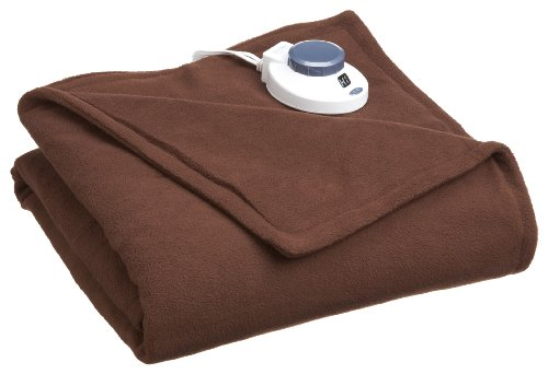 Soft Heat Luxury Micro-Fleece Low-Voltage Electric Heated Throw, Chocolate Brown