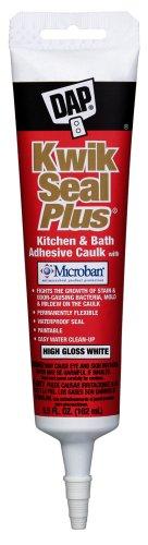 Dap 18526 Kwik Seal Plus Kitchen And Bath All-Purpose Adhesive Caulk, 5.5-Ounce, White front-314557