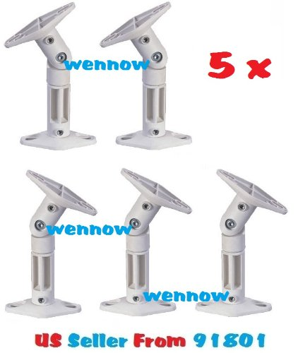 Wennow (5) New White Ceiling Wall Home Speaker Brackets Mounts Compatible With: - Bose Acoustimass Series, Bose Cinemate Series, Bose Lifestyle Series, Bose : Bose Cube, Double Cub Jewel Cube Speakers, Infinity , Insignia , Zenith, Denon , Jvc , Kenwood ,