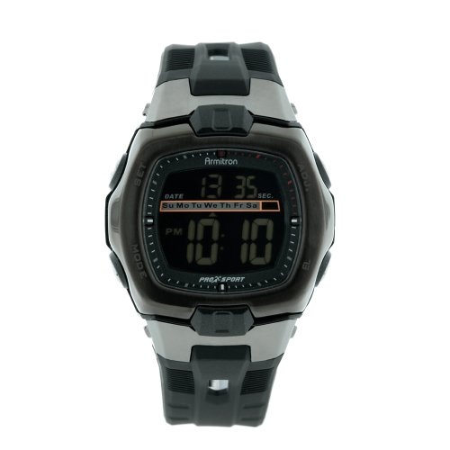 Armitron Men's 491015RVDG Sport Black and Grey Accented Digital Sport Watch
