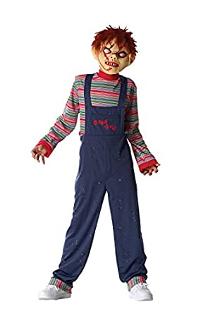 Costume Culture Men's Licensed Chucky Boy's Costume, Blue, X-Large