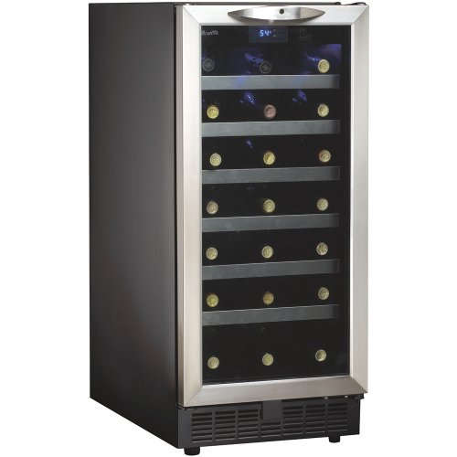Best Review Of Danby DWC1534BLS 3.7 Cu. Ft. 34-Bottle Silhouette Wine Cooler - Black/Stainless