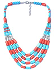 V3 Craft's Multi-strand Resin Bead Necklace For Women - B00FYMSN4O